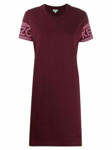 Kenzo logo print shift dress - Purple
