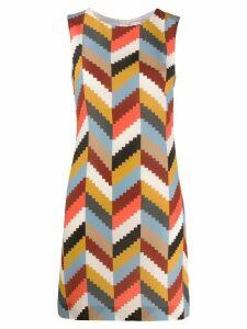 M Missoni geometric silk dress - Neutrals