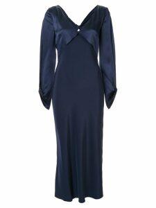 Dion Lee twist detail midi dress - Blue