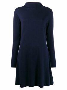 Allude fine knit shift dress - Blue