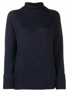 Lamberto Losani turtle neck jumper - Blue