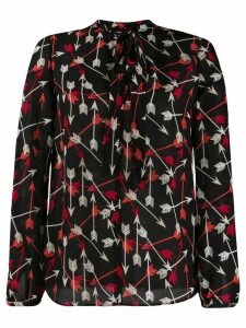 Red Valentino RED(V) printed arrows blouse - Black