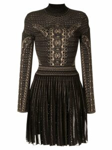 Roberto Cavalli henna jacquard knit dress - Black