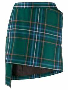 Vivienne Westwood Anglomania asymmetric tartan print skirt - Green