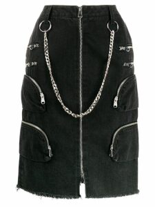Faith Connexion chain detail denim skirt - Black