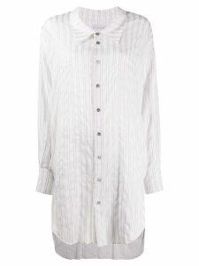 Faith Connexion oversized cotton striped shirt - White