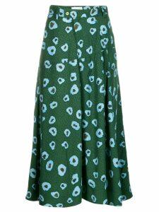 Christian Wijnants moon flower mid-length skirt - Green