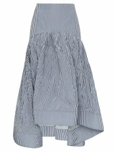 Rosie Assoulin pinstripe fishtail skirt - Blue