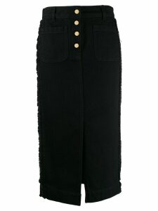 Etro metallic trim skirt - Black
