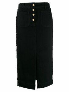 Etro metallic trim skirt - Black
