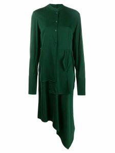 Christian Wijnants asymmetric shirt dress - Green