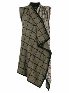 Antonio Marras wrap across cardi-coat - Black