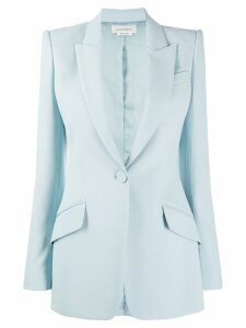 Alexander McQueen single-button blazer - Blue