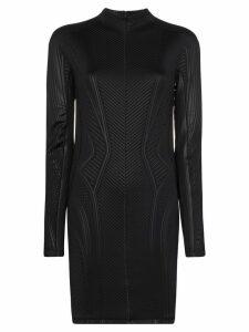 Mugler embossed fitted mini dress - Black