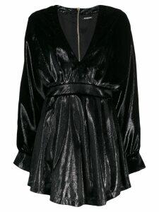 Balmain long-sleeve velvety dress - Black