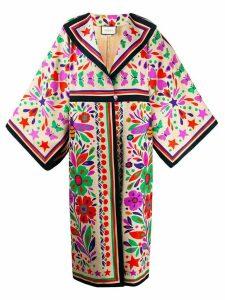 Gucci printed kimono coat - Neutrals