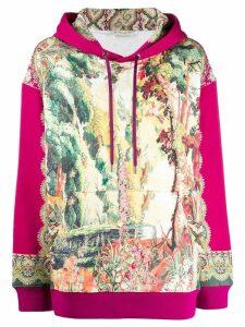 Etro hooded landscape-printd sweatshirt - Pink