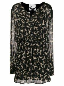 8pm printed silk blend dress - Black