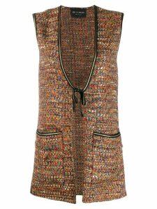 Etro long tweed waistcoat - Brown