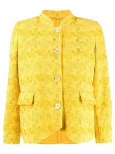 Ermanno Scervino embroidered fitted jacket - Yellow