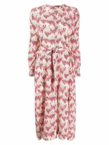 Isabel Marant abstract print midi dress - Pink