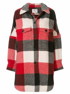 Woolrich oversized plaid jacket - Red