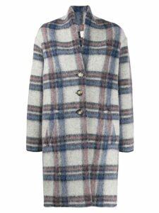 Isabel Marant Étoile oversized checked coat - Blue