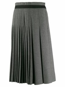 Ermanno Scervino pleated midi skirt - Grey