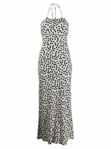 Rixo polka dot print dress - White
