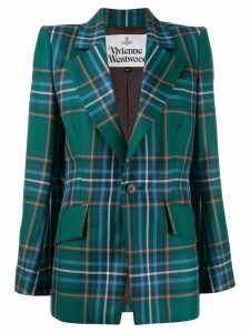 Vivienne Westwood Anglomania checked single-breast blazer - Green