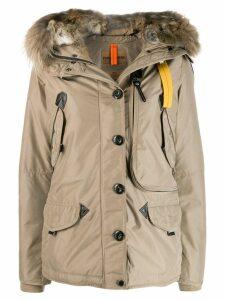 Parajumpers fur trim hooded jacket - Neutrals