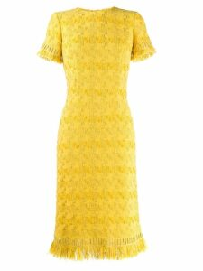 Ermanno Scervino fringed midi dress - Yellow