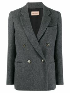 Yves Salomon double-breasted blazer - Grey