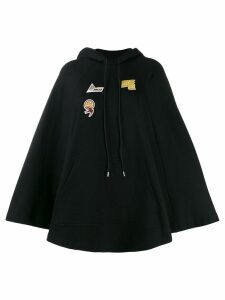 McQ Alexander McQueen embroidered logo patch hoodie - Black