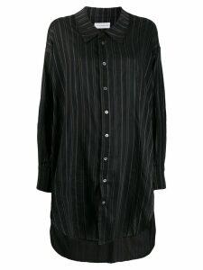 Faith Connexion long striped shirt - Black