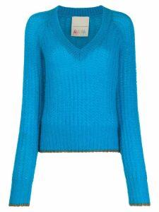Marco De Vincenzo V-neck sweater - Blue