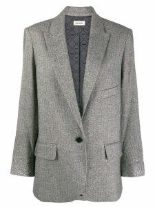 Zadig & Voltaire rhinstone cuff blazer - Grey