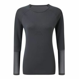 Tribe Sports Open Back Long Sleeve Top - Pewter
