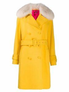 Blumarine double-breasted coat - Yellow