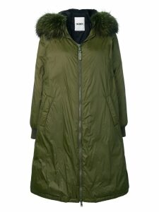 Yves Salomon Army oversized parka coat - Green