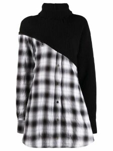 Unravel Project contrast sweater dress - Black