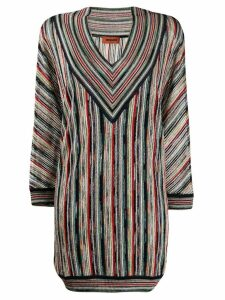 Missoni striped knitted dress - Blue