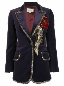 Gucci embellished velvet blazer - Purple