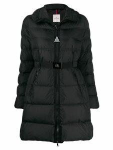 Moncler belted puffer jacket - Black