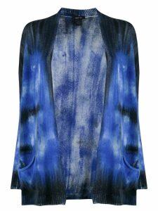 Avant Toi tie-dye effect cardigan - Blue
