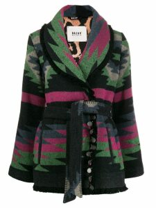 Bazar Deluxe intarsia cardi-coat - Black