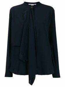 Stella McCartney pussy bow shirt - Blue