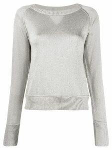 Missoni metallized crew neck pullover - Silver