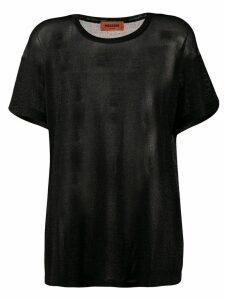 Missoni sheer panel T-shirt - Black