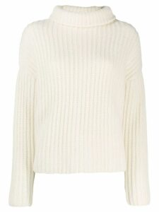 Dusan knitted roll neck jumper - White